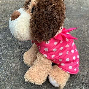 Cute pink and white polka dot dog vest
